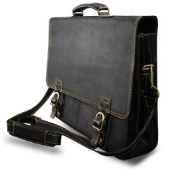 Leather Laptop Briefcases for Dell Computer - Toscana
