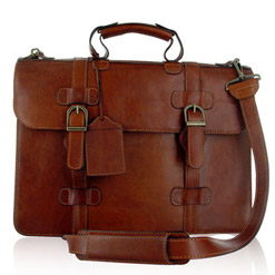 Leather Laptop Briefcases for Dell Computer - Verona
